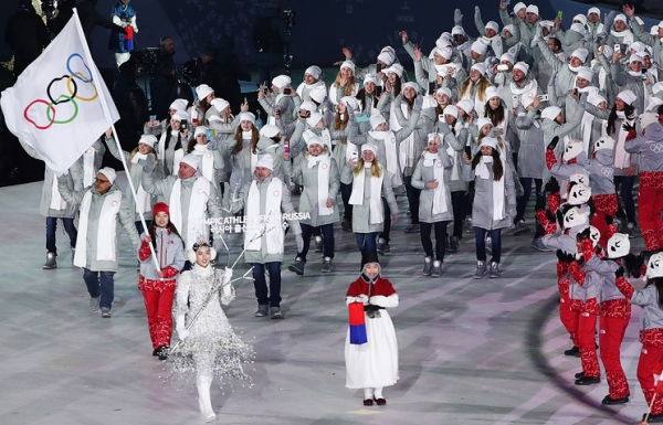 RUSSIA WAGES WAR, VIOLATES THE OLYMPIC PEACE — OLYMPIC ATHLETES FROM RUSSIA CORRUPT THE PYEONGCHANG WINTER GAMES