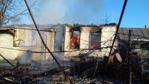 RUSSIA SHELLS VILLAGES NEAR OCCUPIED LUHANSK IN UKRAINE